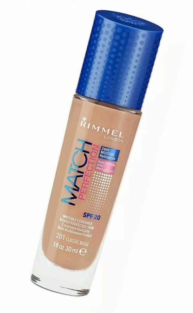 Rimmel London Match Perfection Foundation, 201 Classic Beige, 30 ml 3 product ra